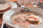 Суп с фарфель и шампиньонами