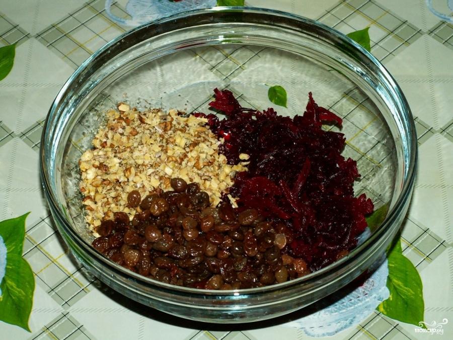 рецепт салата из вареной свеклы с капустой