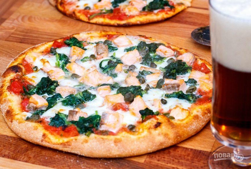 Пицца со шпинатом
