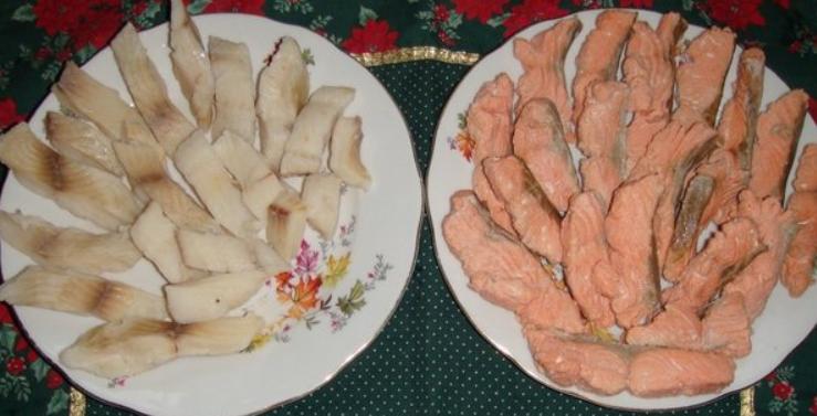 рецепт омлета с рыбой красной и белой
