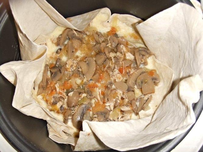 Слоенный пирог из лаваша - фото шаг 9