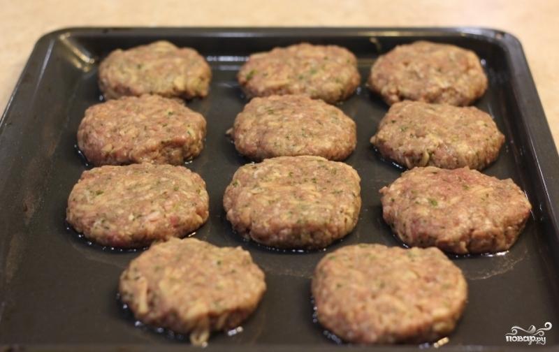 Котлеты из говядины в духовке время приготовления