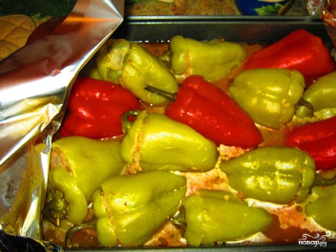 Фаршированный болгарский перец в духовке - фото шаг 8