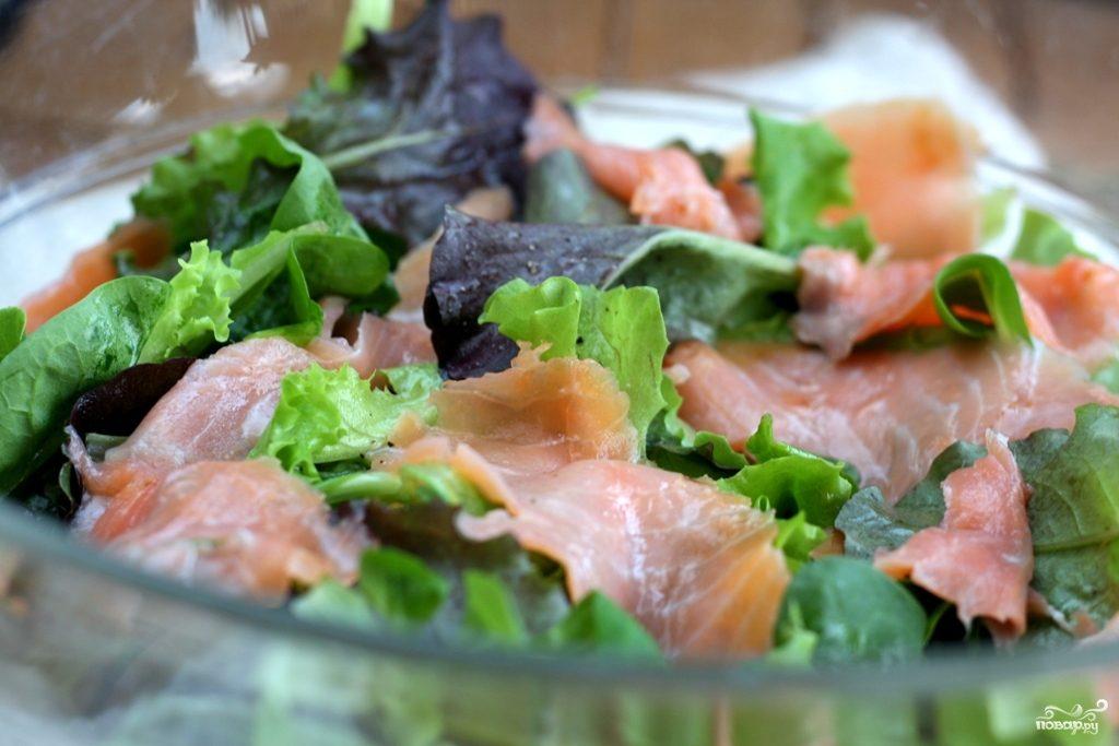 Салат с семгой слабосоленой
