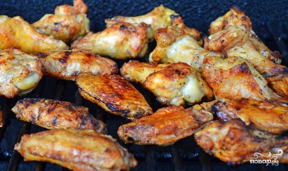 крылышки гриль в духовке рецепты