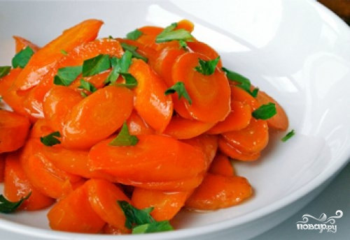 Глазированная морковь с имбирем