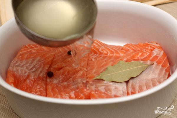 Семга в сливочном соусе - фото шаг 2
