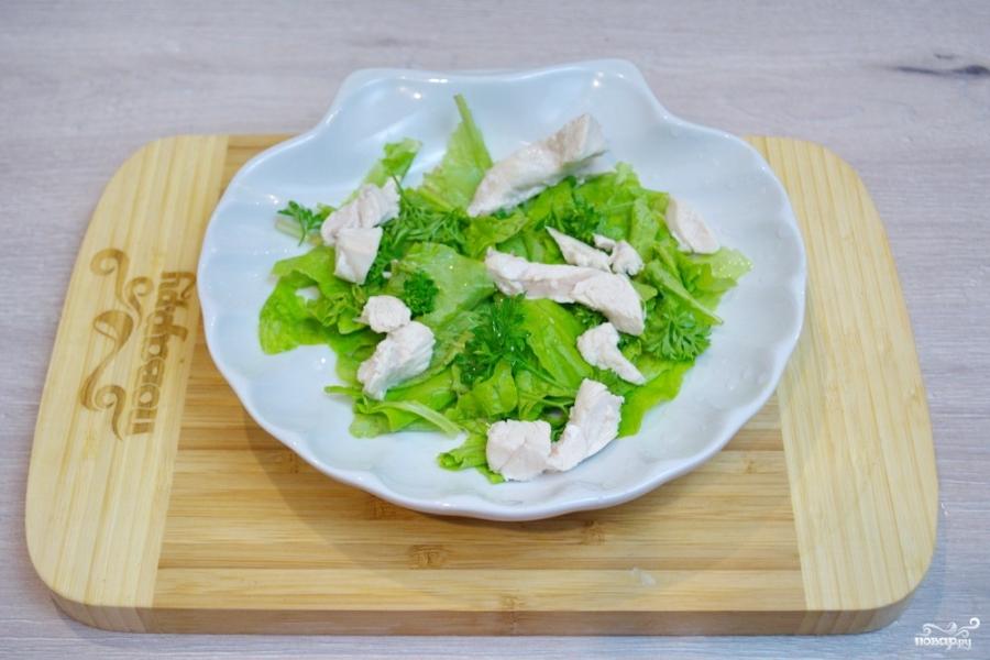 Салат с индейкой и помидорами - фото шаг 2