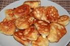Оладьи с сыром и колбасой