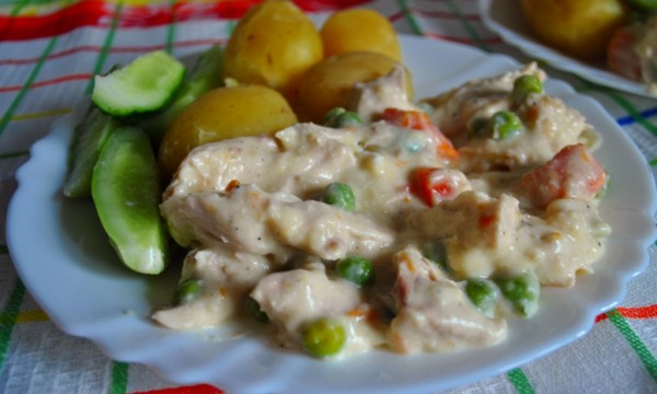 Фрикасе из курицы с овощами - фото шаг 9