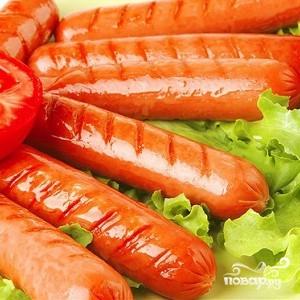Рецепт Сосиски с помидорами