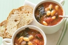 Суп Минестроне с листовой капустой и белой фасолью