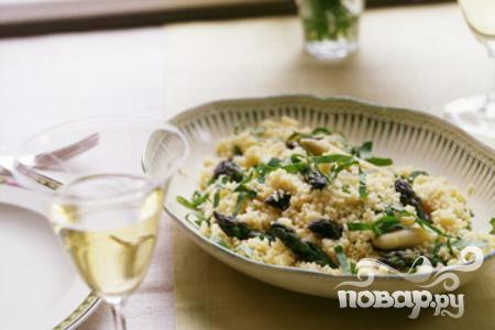 Рецепт Кус-кус с белой и зеленой спаржей