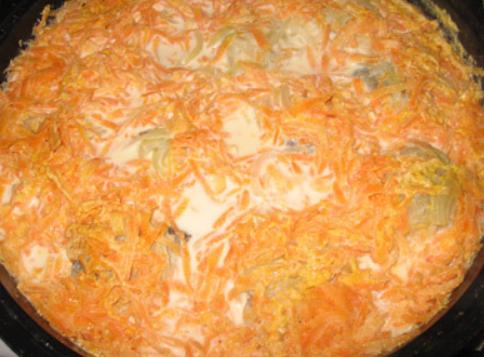 Тушеный минтай с морковью и луком - фото шаг 5