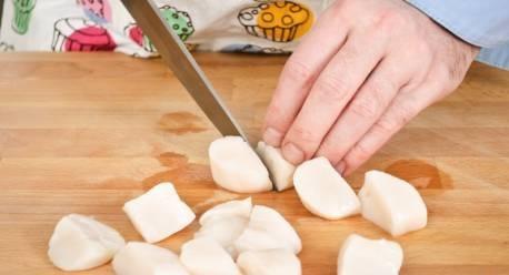 Рецепт Гребешки в сливочном соусе