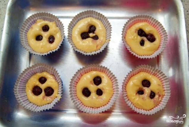 вишневые капкейки рецепт с фото