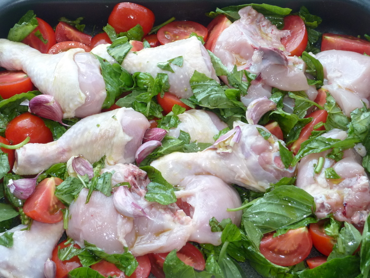 Курица с базиликом - фото шаг 4