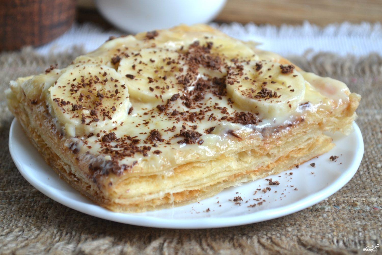 """Торт """"Наполеон"""" из готового слоеного теста"""