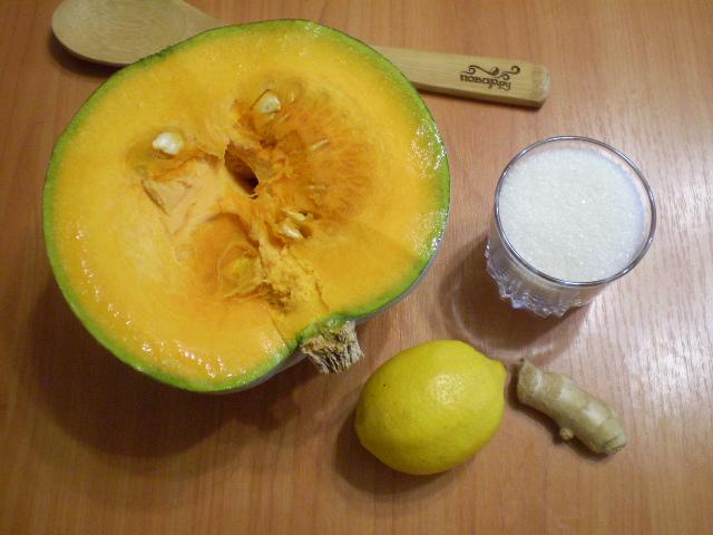 Рецепт Варенье из тыквы с имбирем и лимоном
