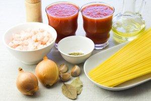 Рецепт Томатная подлива с креветками