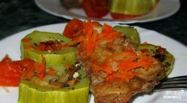Тушеная курица с кабачками - фото шаг 5
