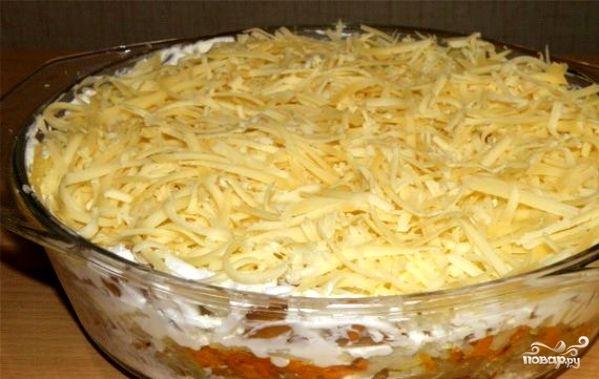 Грибной салат с курицей - фото шаг 8