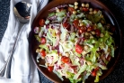 Салат с нутом и колбасой