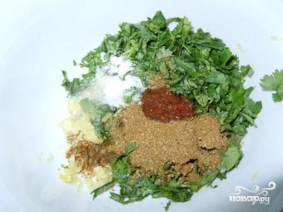 Томатный соус с кинзой - фото шаг 1