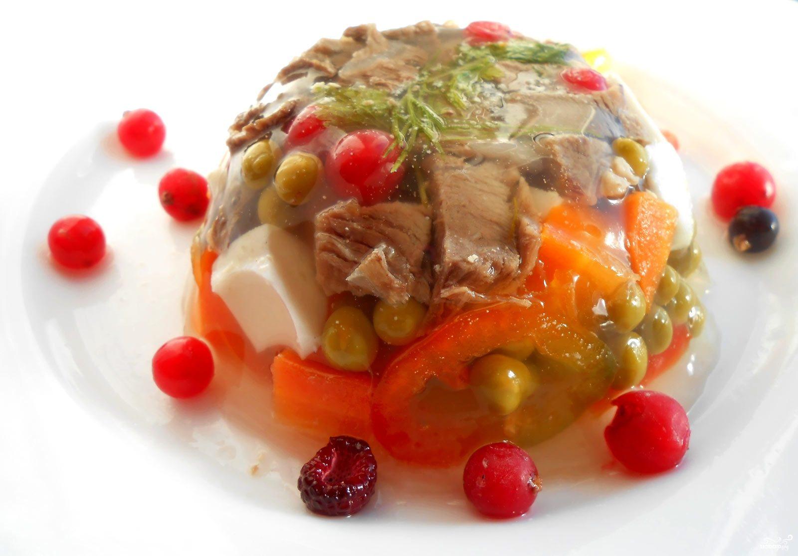 Рецепт Заливное из говядины