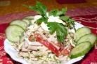 Берлинский салат с ветчиной