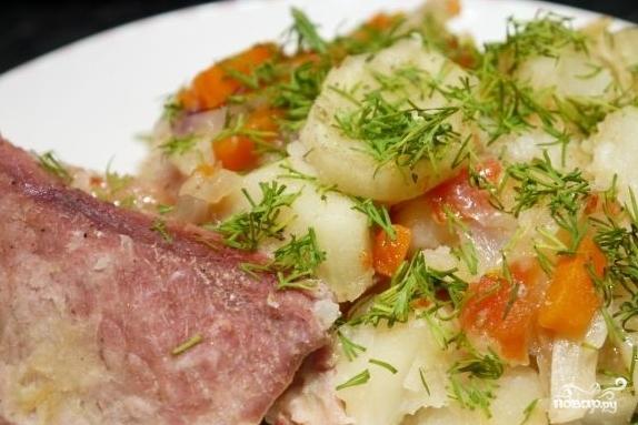 Рецепт Свинина с картофелем в духовке