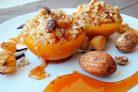 Вкусный десерт из персиков