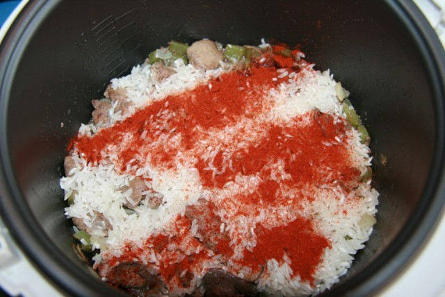 Печень с рисом - фото шаг 4