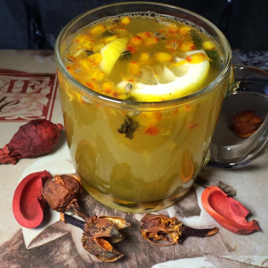 Чай с облепихой и имбирем - фото шаг 5