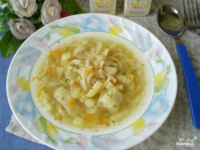 как приготовить суп с макаронами и картошкой пошаговый рецепт