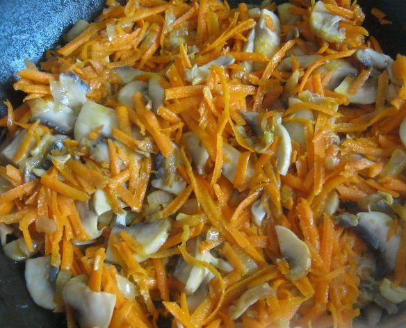 Голубцы вегетарианские с грибами - фото шаг 3