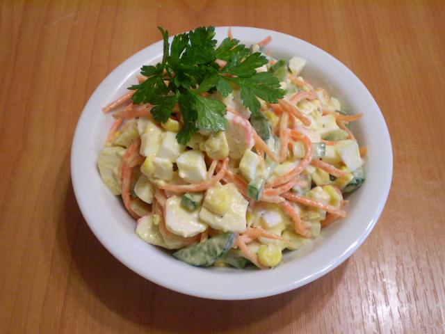салат мимоза с морковкой пошаговый рецепт
