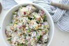 Салат из картофеля и бекона
