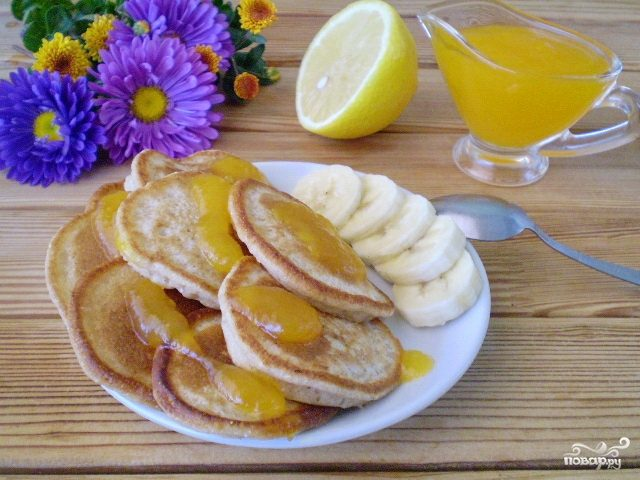 Гречневые оладьи с бананом