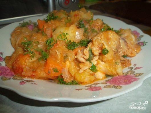 Рецепт Тушеная картошка с фаршем