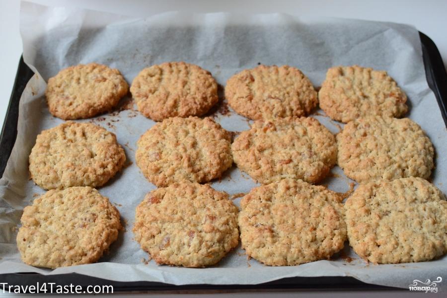 овсяное печенье на кефире в духовке рецепт