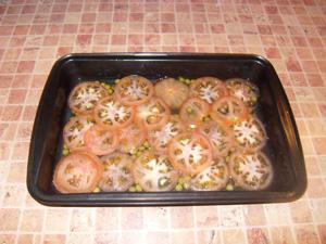 Камбала в духовке с картошкой - фото шаг 4
