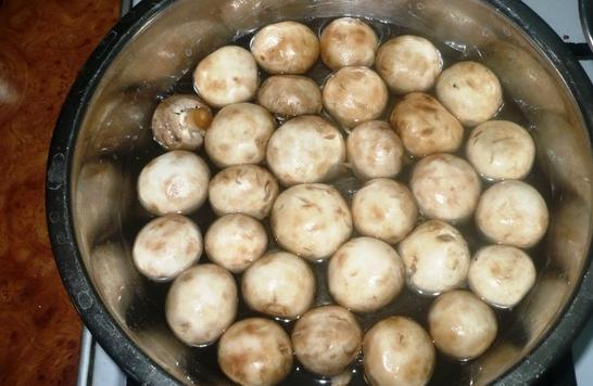 Рецепт Быстрые маринованные грибы