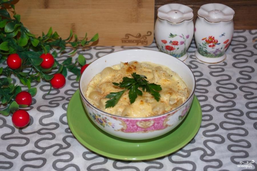 Макароны с сыром в духовке - фото шаг 8