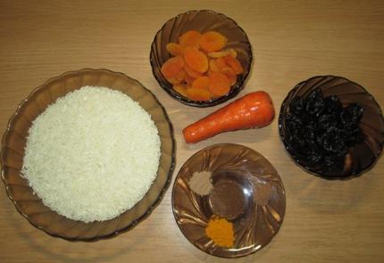Рецепт Вегетарианский плов с сухофруктами