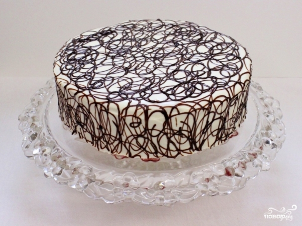 как украсить торт глазурью