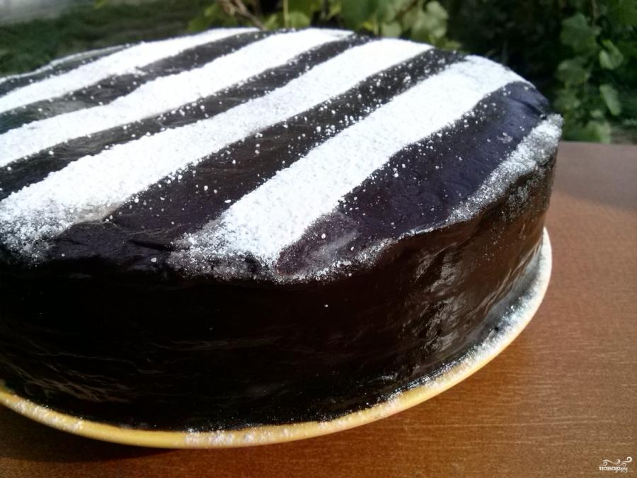 """Торт """"Зебра"""" - фото шаг 10"""