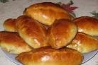Пирожки с картошкой и печеночным паштетом