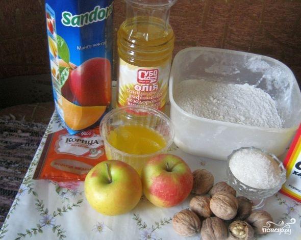 Постный яблочный пирог с корицей - фото шаг 1