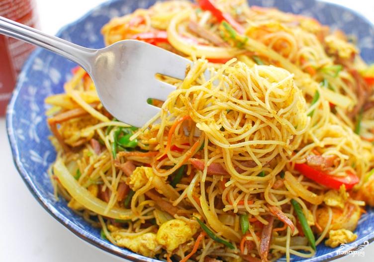 Лапша по сингапурски рецепт